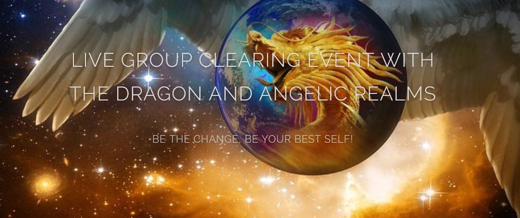 live energy clearing with angels and dragon realms